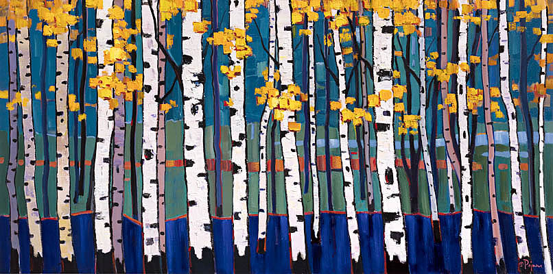 Aspens in Blue by Bob Pejman