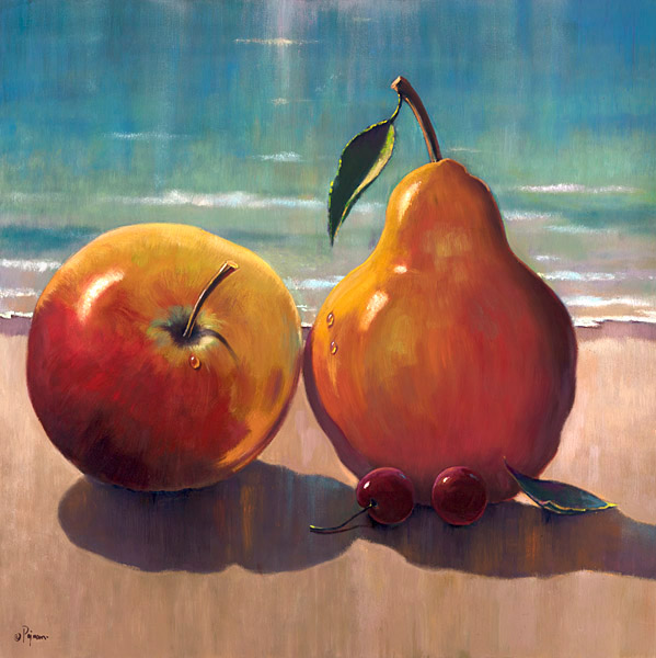 Fruit on the Beach by Bob Pejman