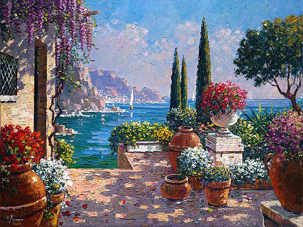 garden terrace in amalfi